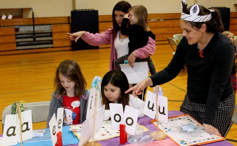 Students and Parents explore Letterland