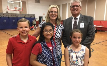 HES students and administrators celebrate STEM School of Distinction