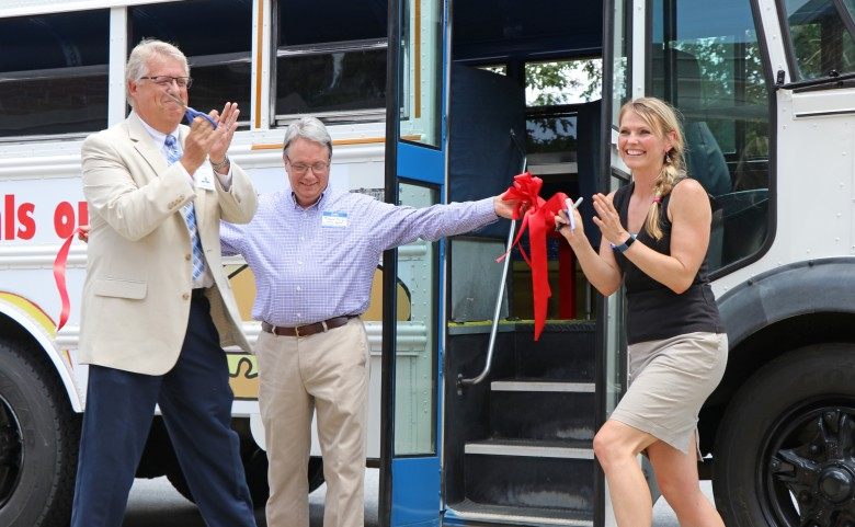 Meals on the Bus ribbon cutting