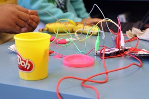 Play-Doh and wires