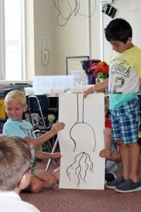 Students diagram a plant