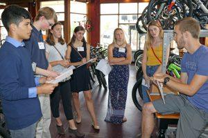Students at Sycamore Cycles