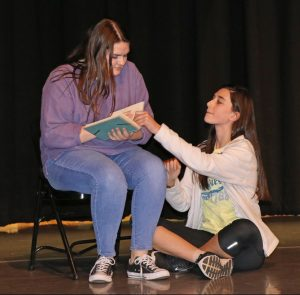 East Henderson High advanced theatre students acting