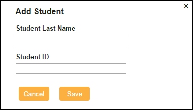 Here Comes the Bus add student dialogue box