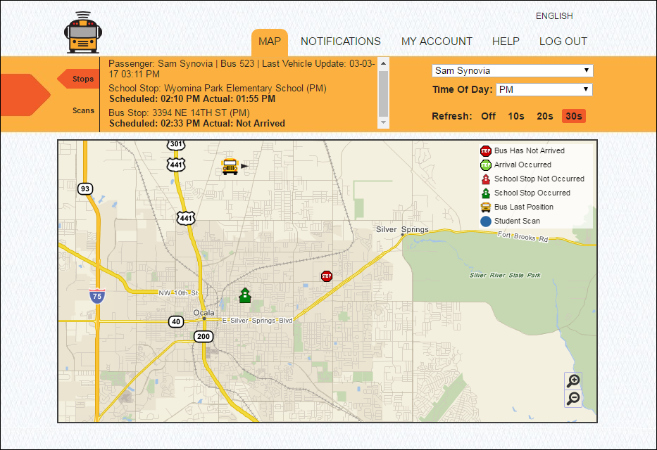 Here Comes the Bus tracking image