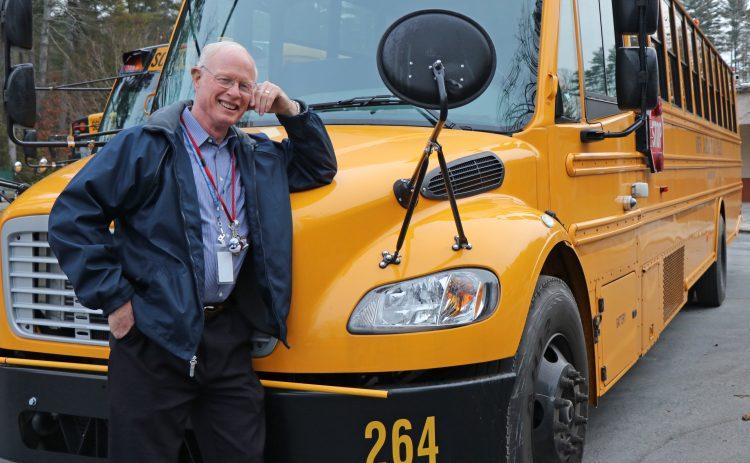 Chuck Evans with school bus
