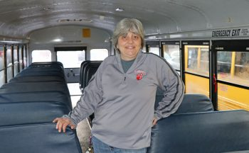 Deborah Praytor in school bus