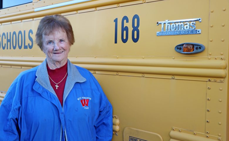 Doris Bencivenga by her bus