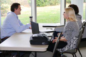 Students practice interview skills