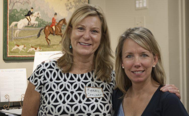 Hendersonville Elementary principal Kerry Stewart (left) poses withBIGwinner Cara Brock (right).