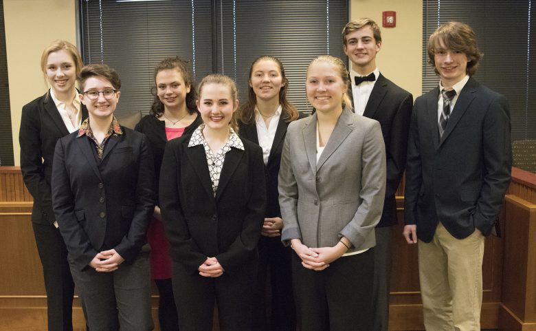 Hendersonville High's mock trial team