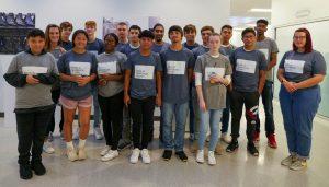 group of students at GF Linamar