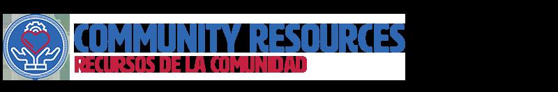 """header graphic for """"Community Resources/Recursos de la comunidad"""" section"""