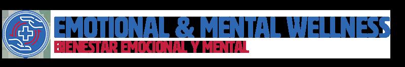 "header graphic for ""Emotional & Mental Wellness/Bienestar emocional y mental"" section"