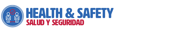 "Header graphic for ""Health & Safety/Salud y Seguridad"" section"