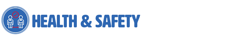 "Header graphic for ""Health & Safety"" section"