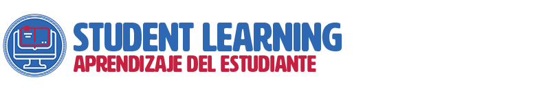 "Header graphic for ""Student Learning/Aprendizaje del estudiante"" section"