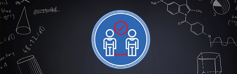 health and safety graphic on blackboard background