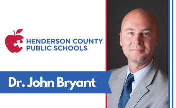 "photo of man with text ""Dr. John Bryant"" and HCPS logo"