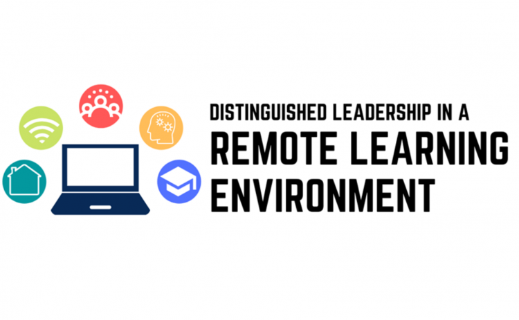 """Distinguished leadership in a remote learning environment"" logo"