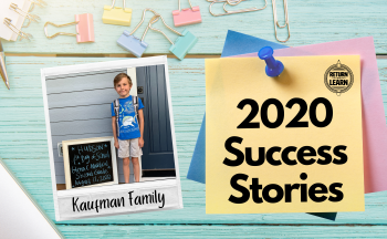 "graphic of polaroid on desk with handwritten text ""Kaufman Family"" and ""2020 Success Stories"""