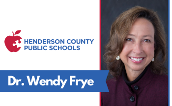 "image of woman and text ""Dr. Wendy Frye"" and HCPS logo"