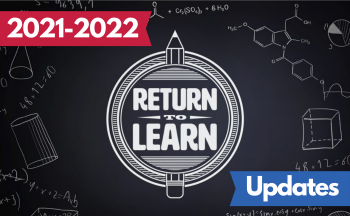 """Return to Learn logo with text """"2021-2022 Updates"""""""